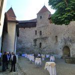 Soirée conviviale au château de Grandson pour les visiteurs du salon orthomanufacture.